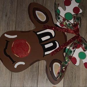 Christmas Rudolph Door Hnager